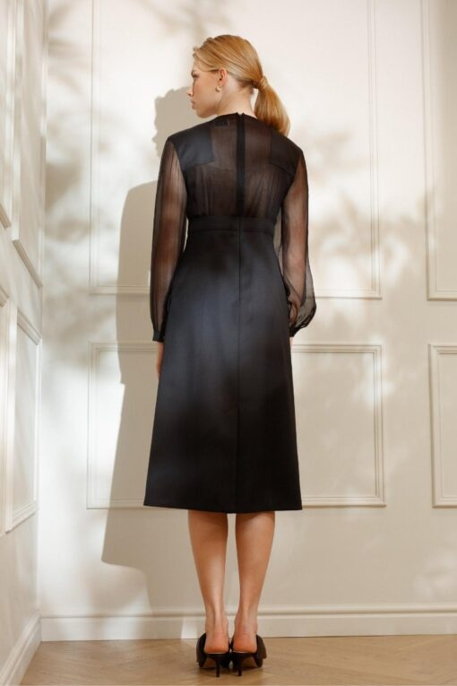 DIANA ARNO ADELINE COCKTAIL DRESS WITH CHIFFON TOP