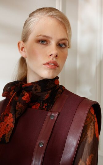 DIANA ARNO KARLEY WOOL-MIX VEST WITH BARE SIDES