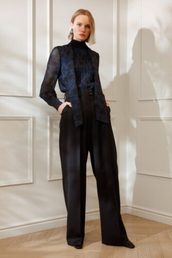 DIANA ARNO LAUREN WIDE-LEG TROUSERS IN MOONLESS NIGHT