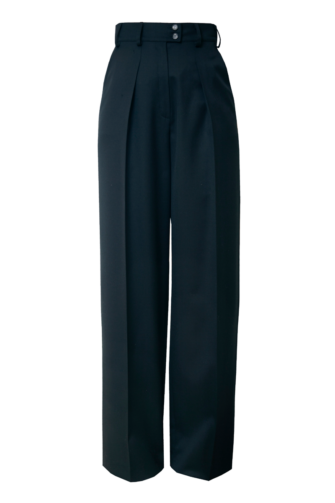 LAUREN WIDE-LEG TROUSERS IN MOONLESS NIGHT