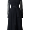 EMILY SILK SHIRT DRESS IN MOONLESS NIGHT