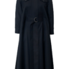RENE WOOL CAPE DRESS IN MOONLESS NIGHT
