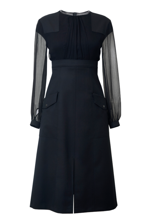 ADELINE COCKTAIL DRESS WITH CHIFFON TOP