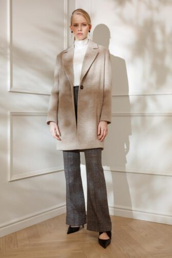 DIANA ARNO ELLA PADDED WOOL JACKET IN TOFU