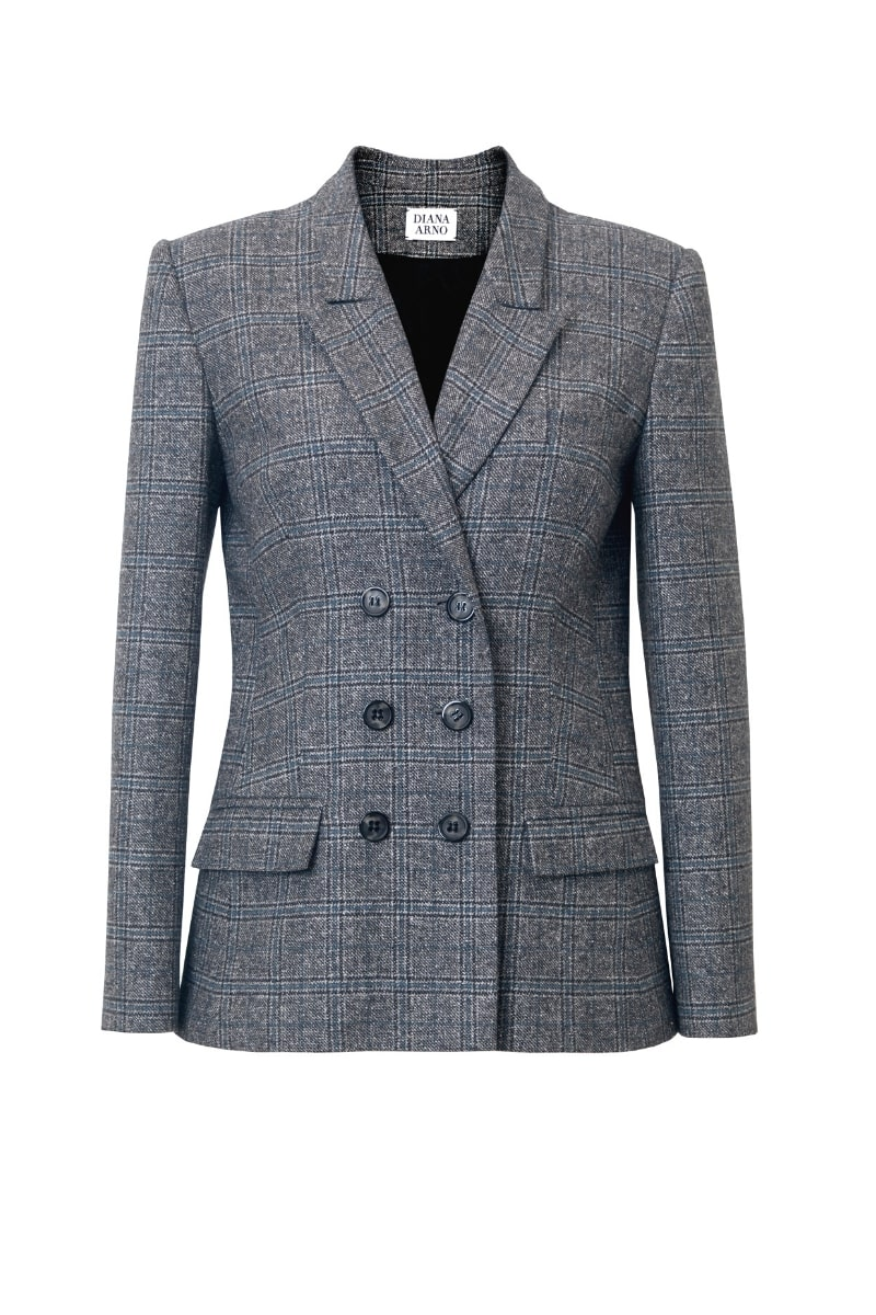BLANCHE TAILORED BLAZER IN EARL GREY CHECK