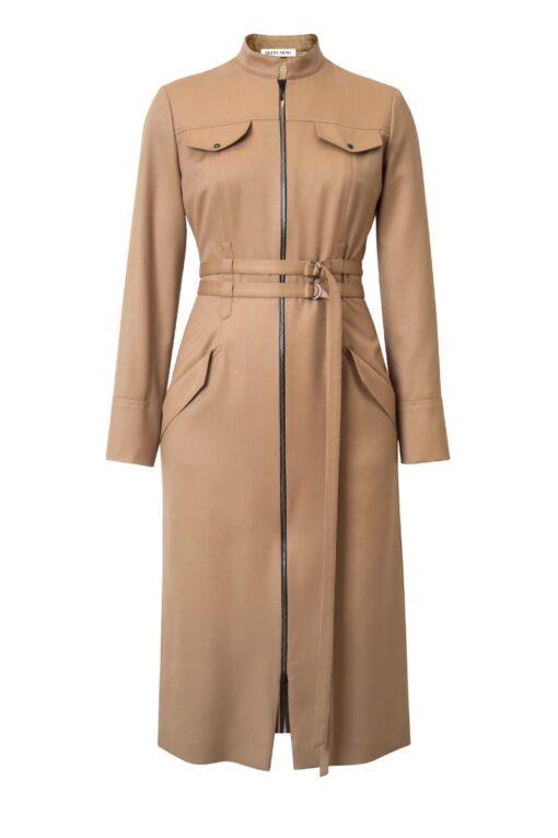 ANDREA BODYCON DRESS IN SUNNY BEIGE