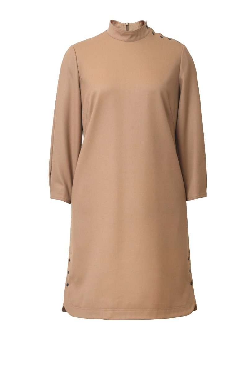 EMMA WOOL MINI DRESS WITH STATEMENT SLEEVES