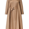 IRENE WOOL CAPE DRESS IN SUNNY BEIGE