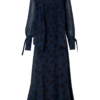 EVIE SILK MAXI DRESS WITH A BOW