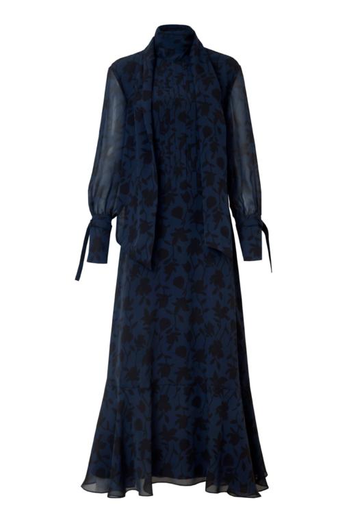 EVIE SILK MAXI DRESS WITH A BOW