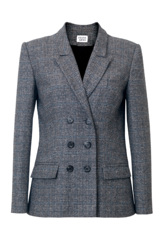BLANCHE TAILORED BLAZER IN EARL GREY