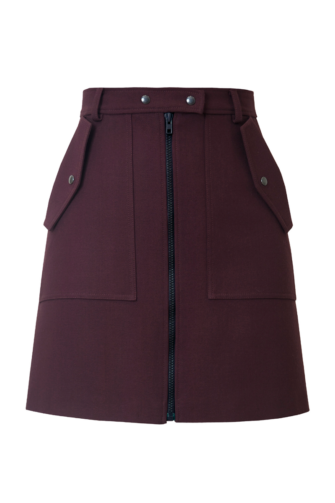 KOURTNEY MINI SKIRT IN RUBY WINE