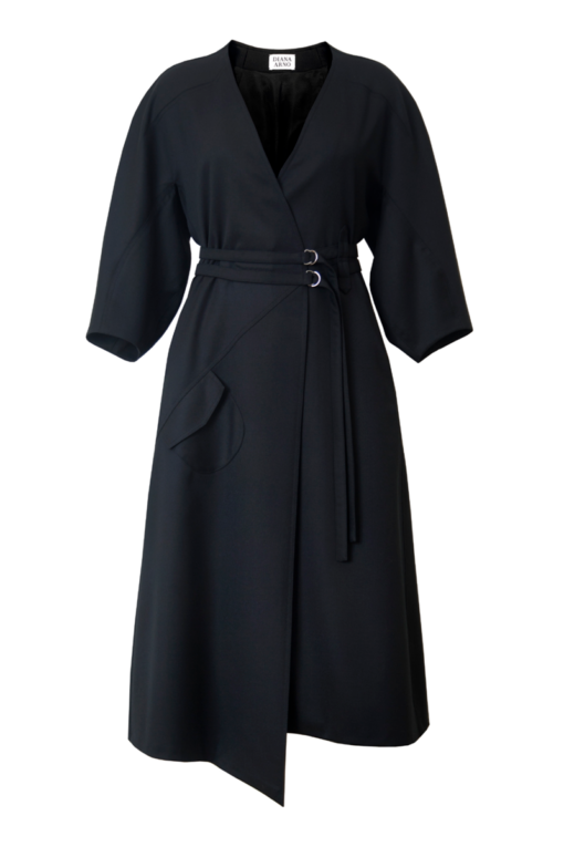 IVY WRAP DRESS IN MOONLESS NIGHT
