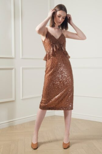 LARA SEQUIN BODYCON DRESS