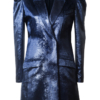 MIA VELVET BLAZER DRESS IN CELESTIAL BLUE