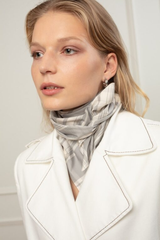 ALIS SCARF IN COTTON CANDY CHECK
