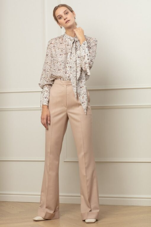 LISA FLARED TROUSERS IN STRAWBERRY FUSION