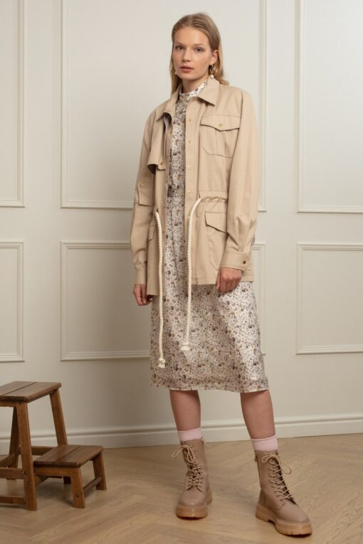 POLLY UTILITY JACKET IN COOKIE CRUMBS