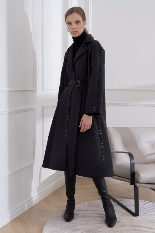 DIANA ARNO MARGARETH OVERSIZED QUILTED CAPE-COAT